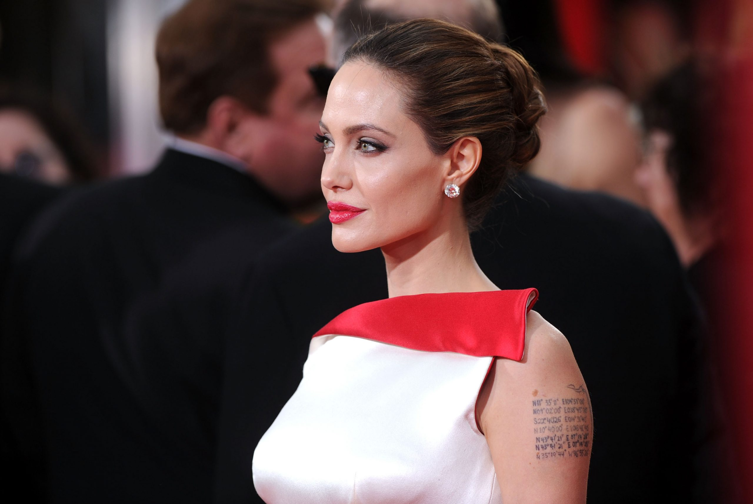 Angelina Jolie en los Globos de Oro de 2012 / Foto: Getty Images