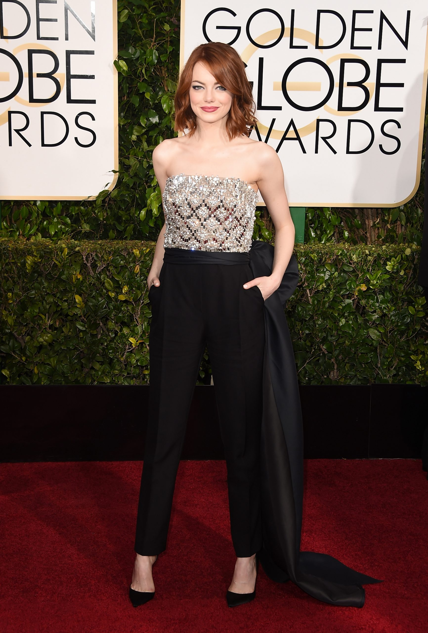 Emma Stone en los Globos de Oro / Foto: Getty Images