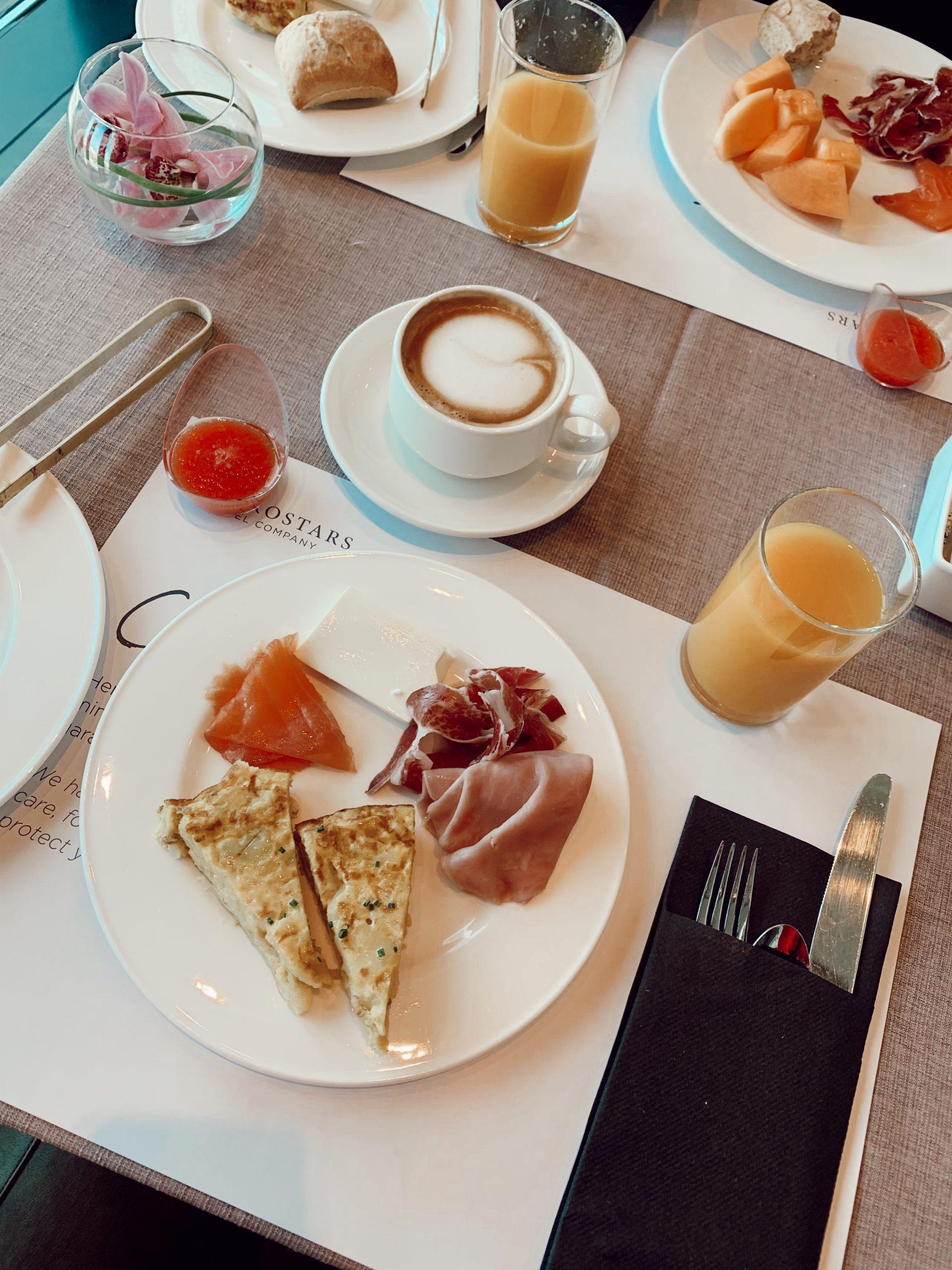 Desayuno de Eurostars Tower Madrid / Foto: Paloma Herce