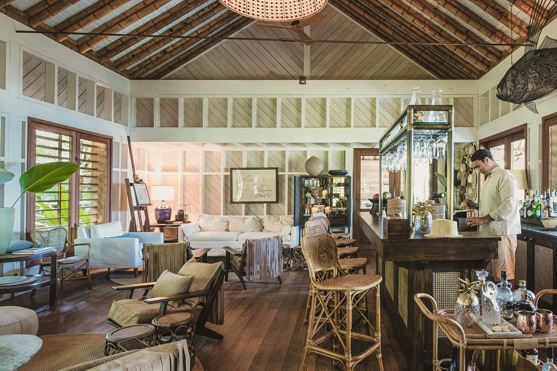 El lounge bar de Islas Secas / Foto: Islas Secas