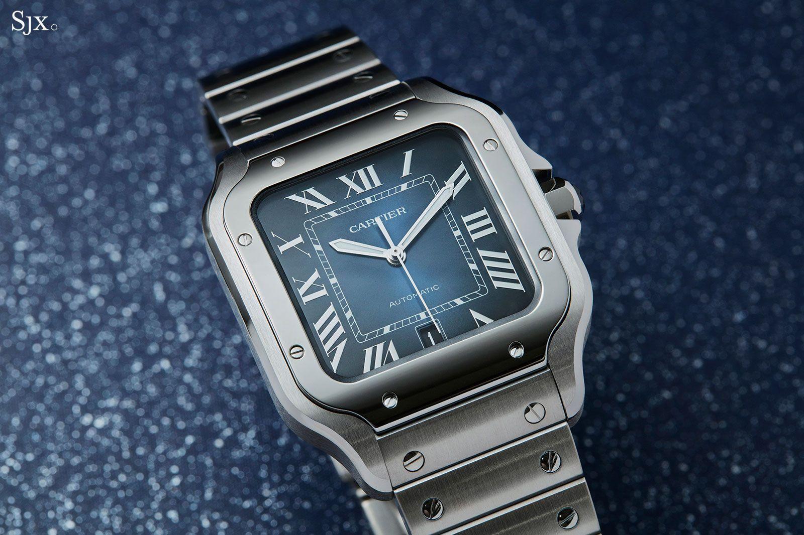 Cartier Santos blue dial