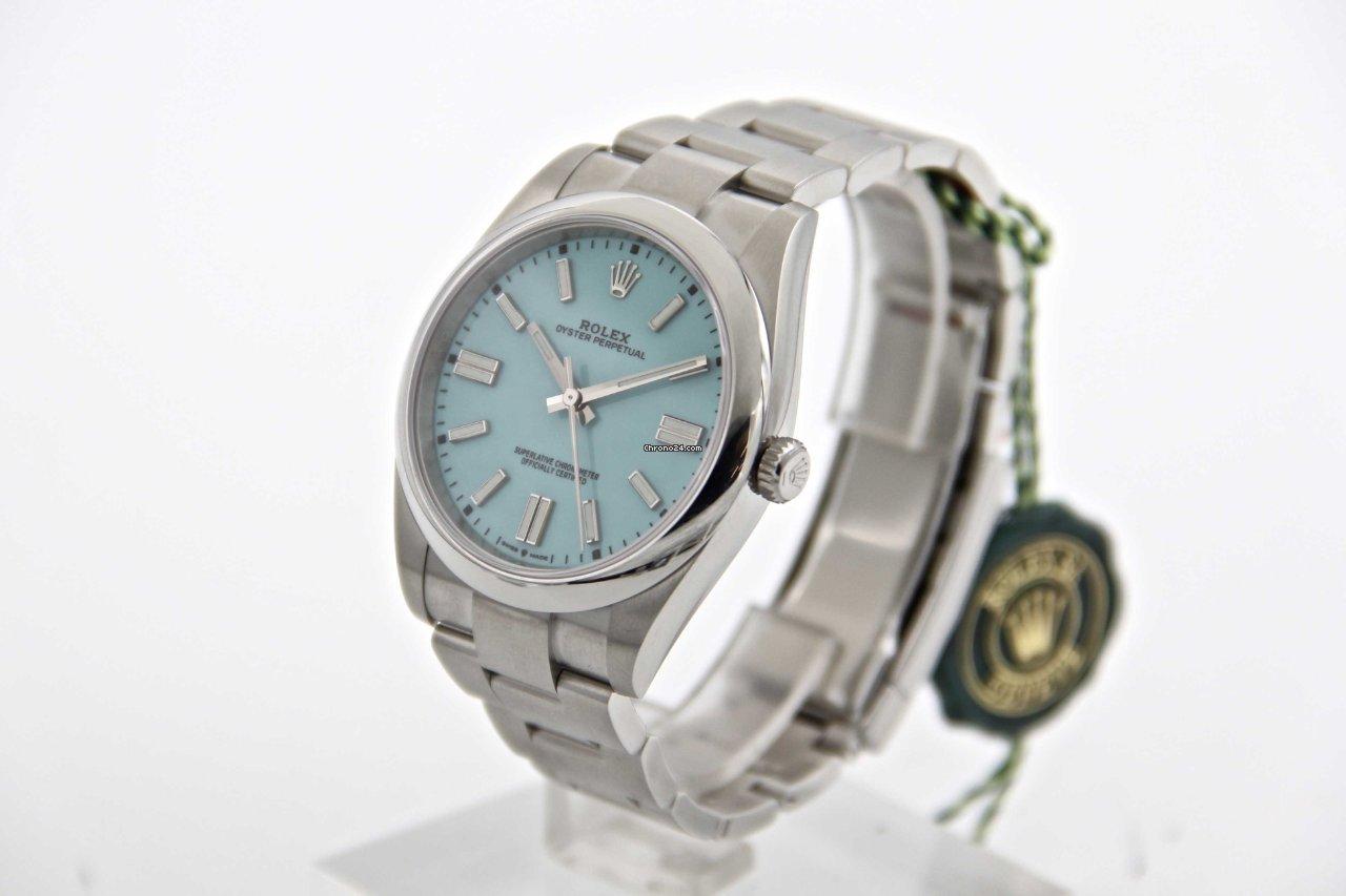 Rolex oyster perpetual ref 124300 blue Tiffany