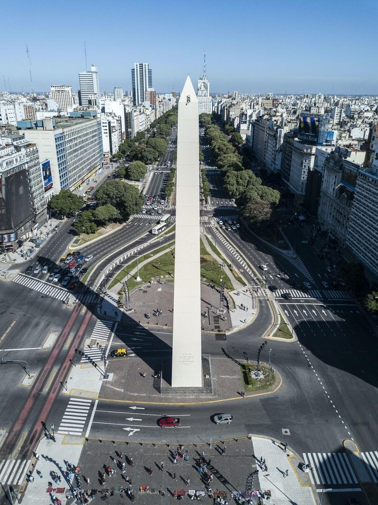 Obelisco en la ciudad de Buenos Aires / Foto: Unplash
