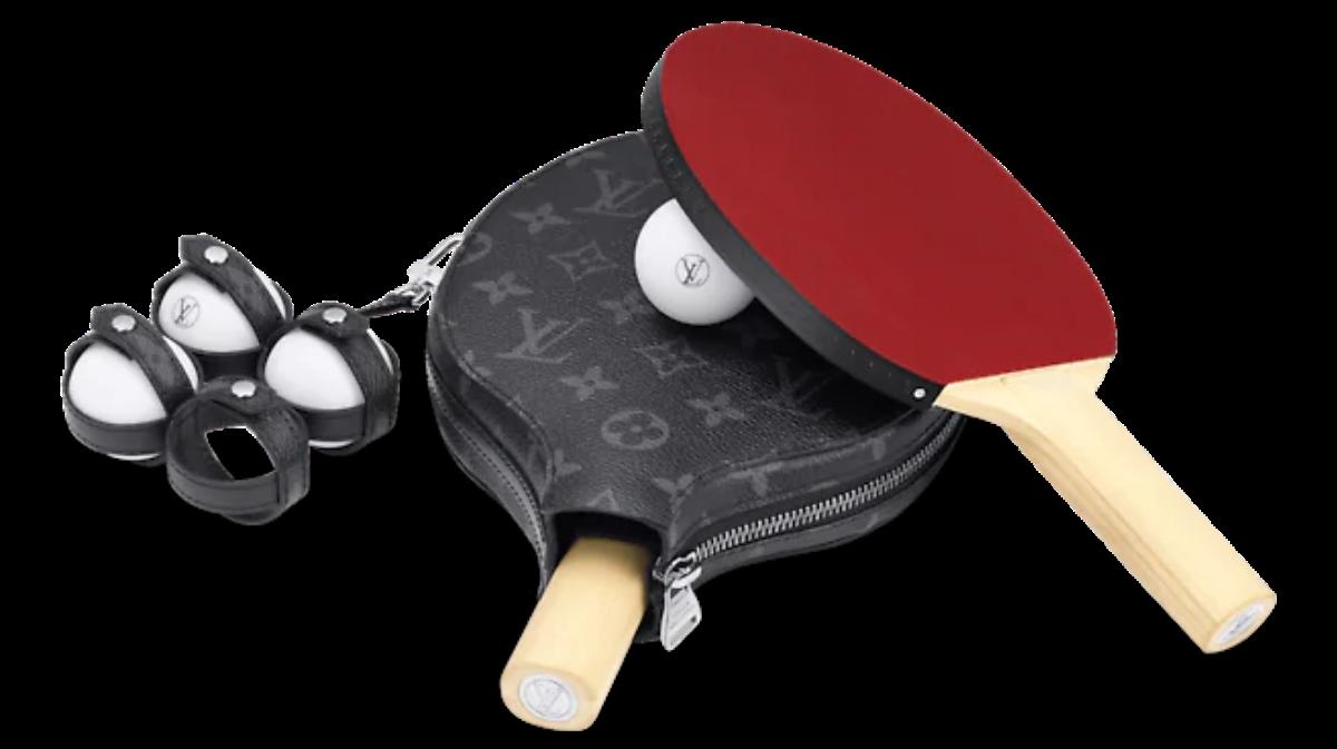Set de palas de ping-pong de LV. / Foto: Louis Vuitton