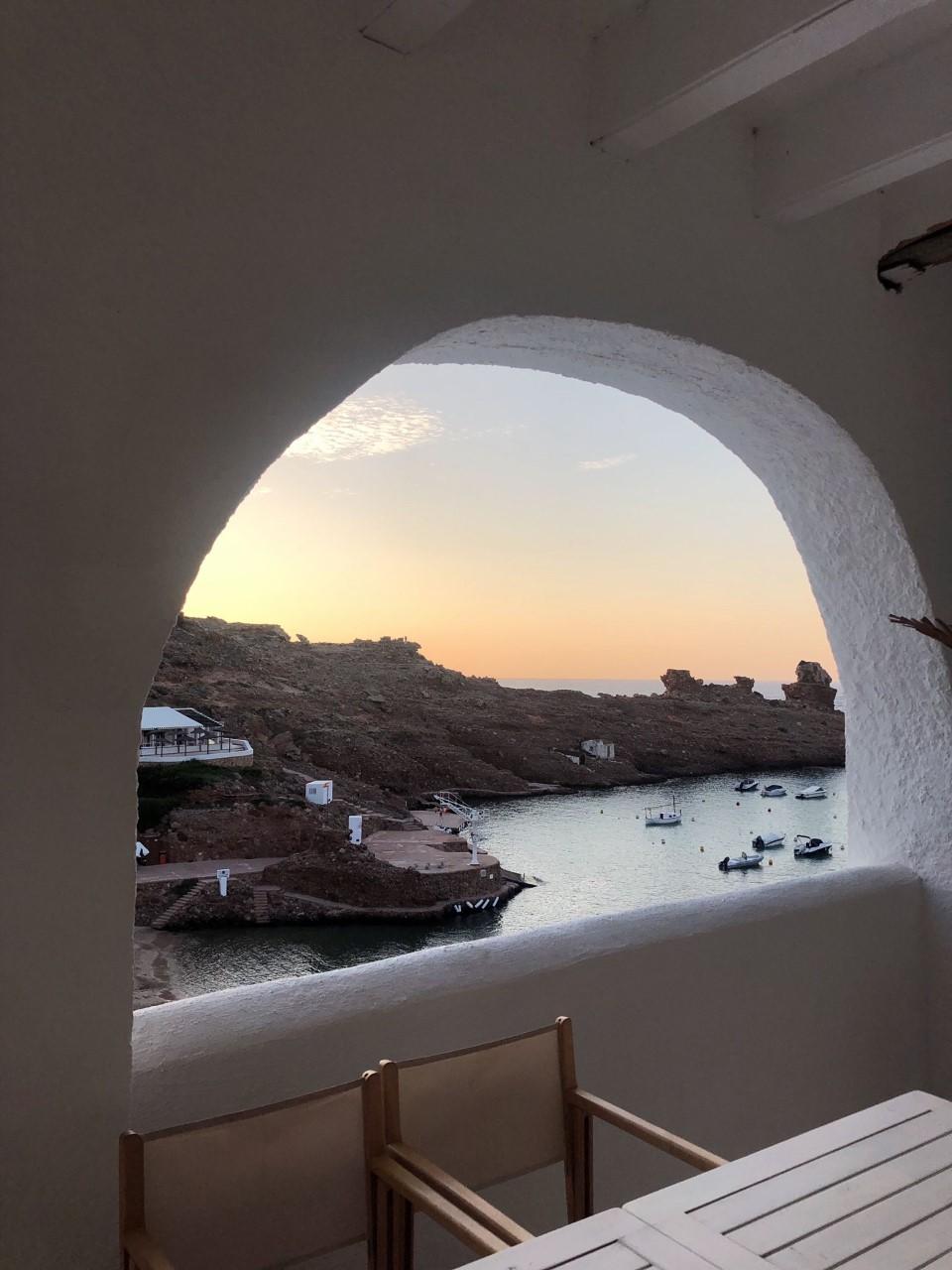 La terraza de Ivette, en Menorca / Foto: Beatriz Carmona