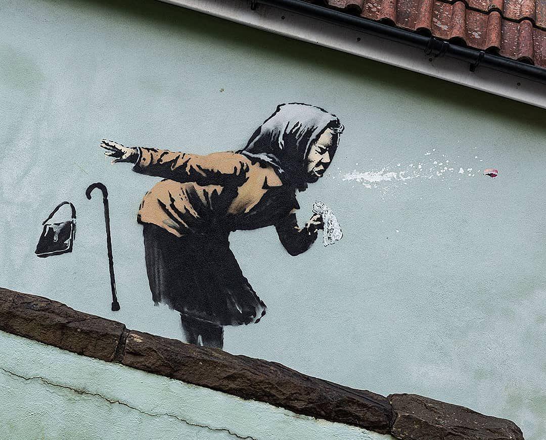 """Exposición """"The Street is a Canvas"""" de Banksy. /Foto: @cbamadrid"""