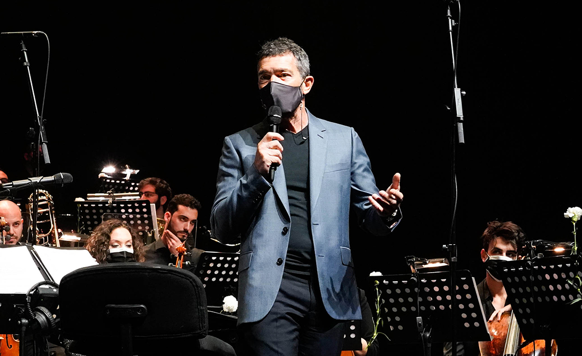 Antonio Bandera en los conciertos del Soho