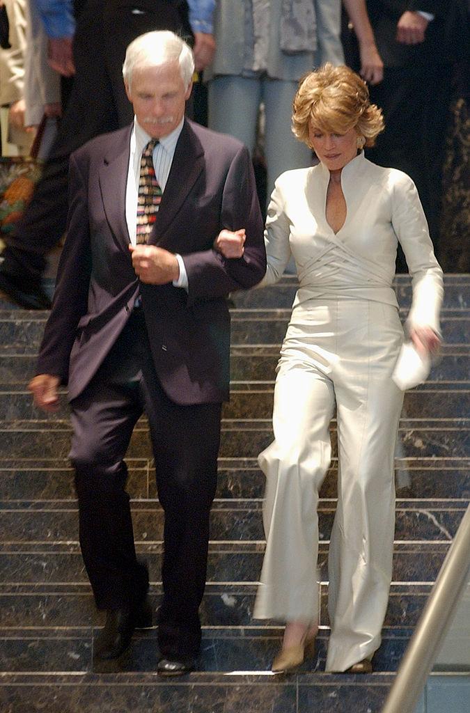 Jane Fonda y su exmarido Ted Turner