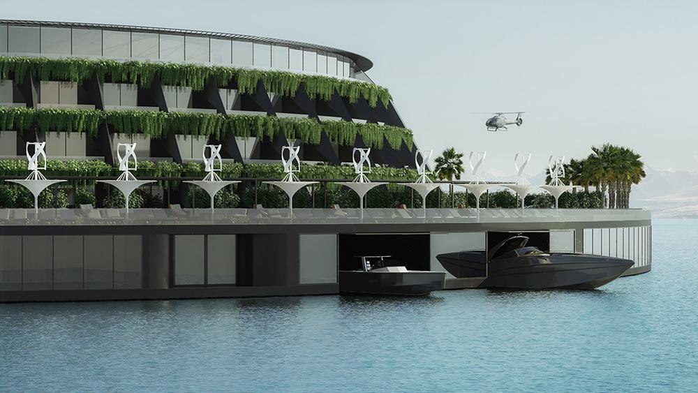 Eco-hotel flotante