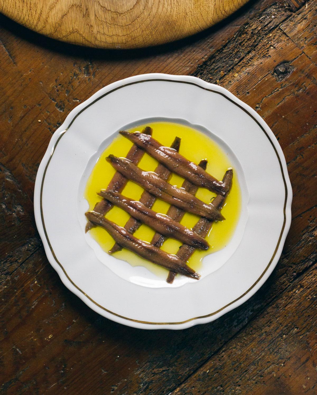 Las anchoas / Foto: Cenador de Amós