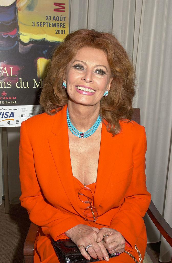 La actriz Sophia Loren