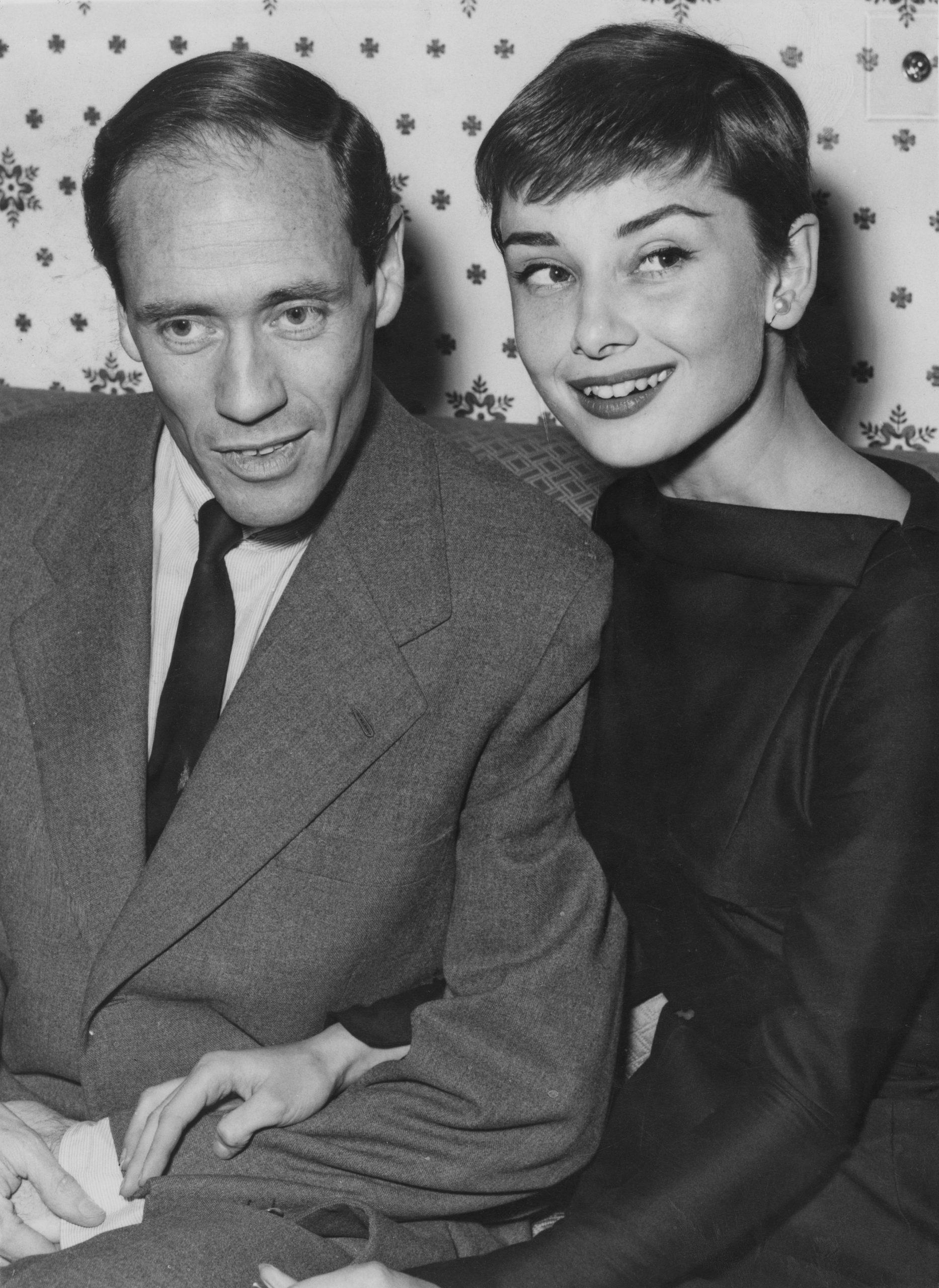 Audrey Hepburn y Mel Ferrer en 1954 / Foto: Getty Images