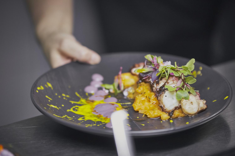 El plato de pulpo del restaurante / Foto: Quispe