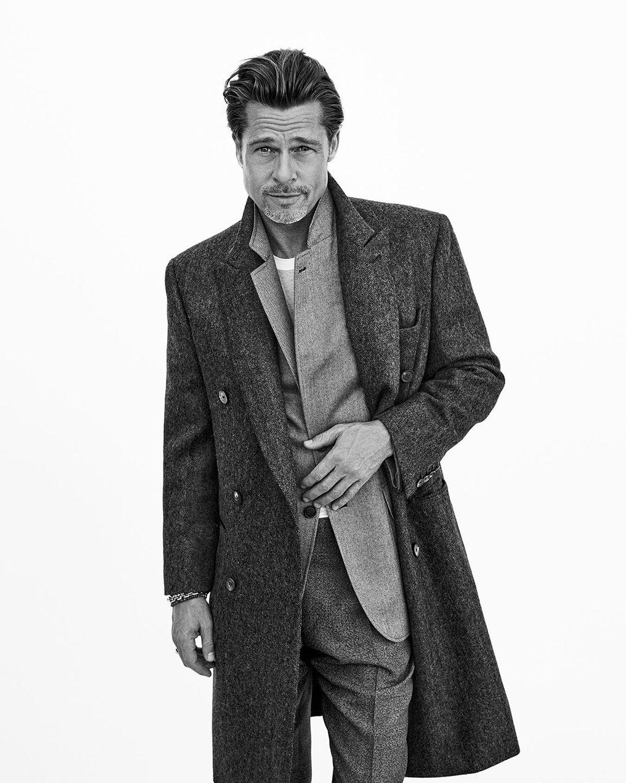 Brad Pitt llevando la colección otoño-invierno 2020 de Brioni