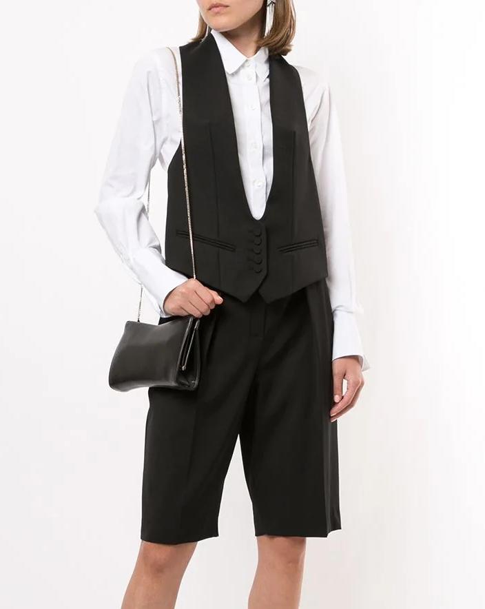 sleeveless blazer
