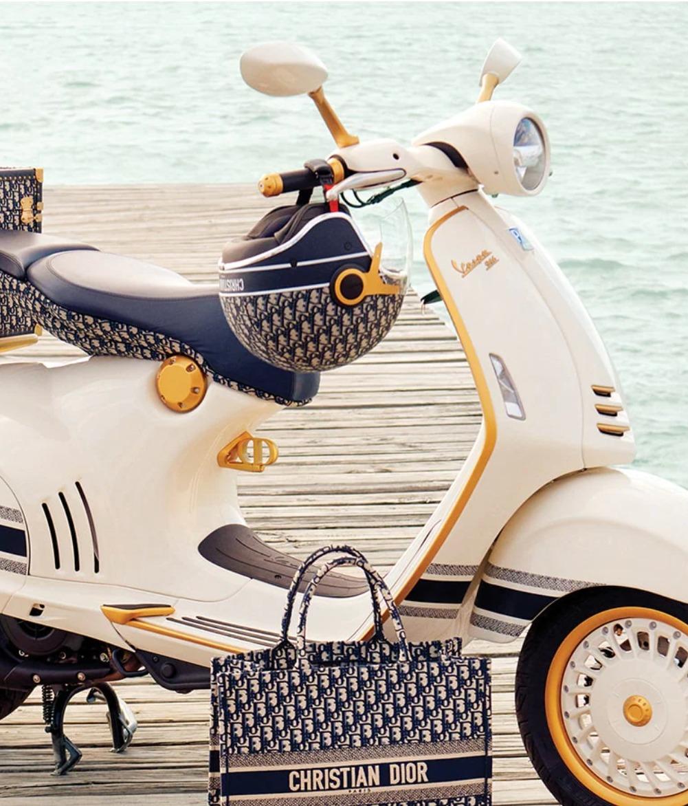 Vespa se viste de Dior y lanzan la scooter más exclusiva