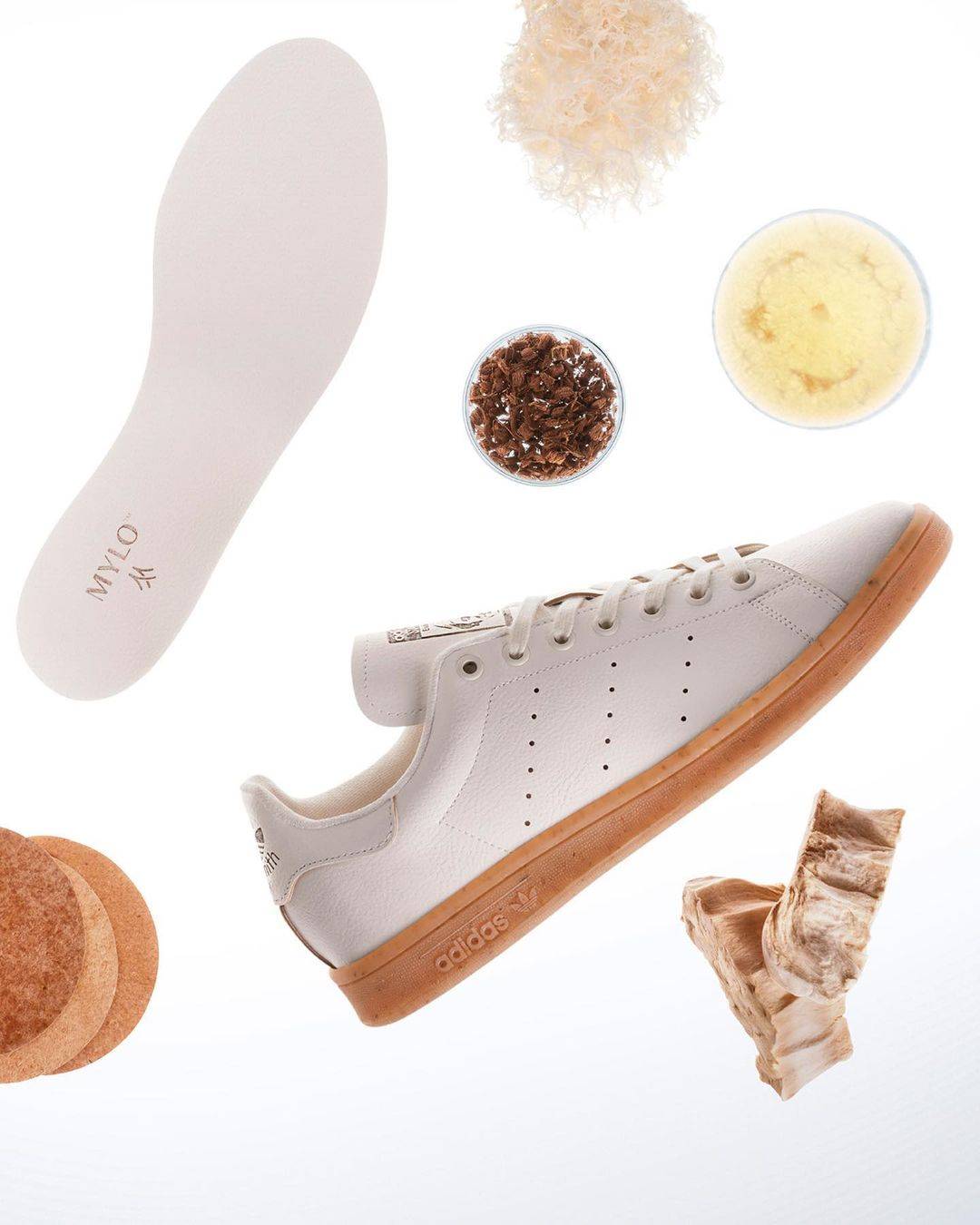 Stan Smith de Adidas hechas con cuero de hongos