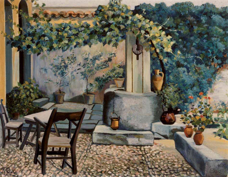 Patio de la casa de Lope de Vega, 1947