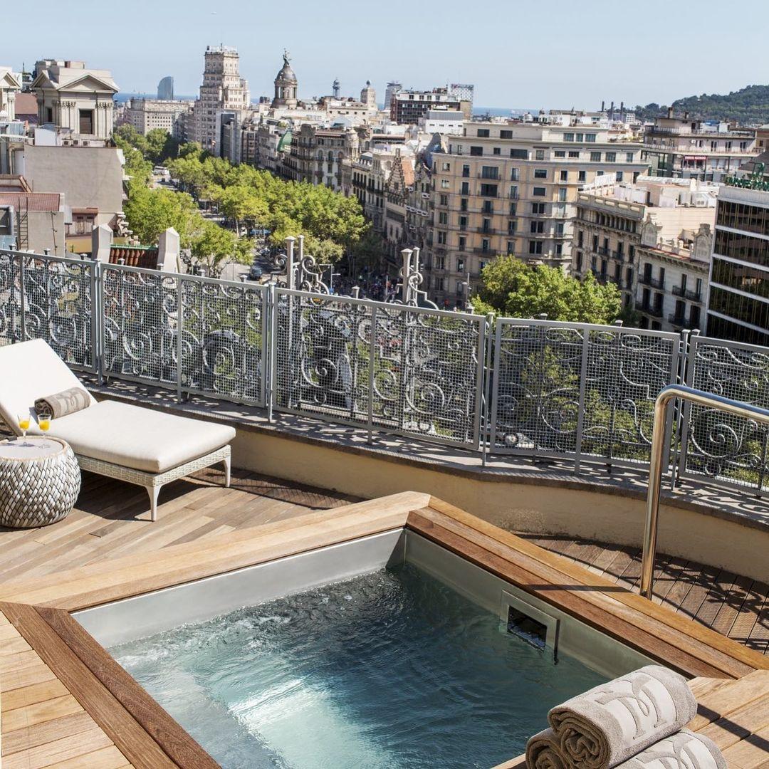 Terraza del Hotel Majestic / Foto: @majestichotel