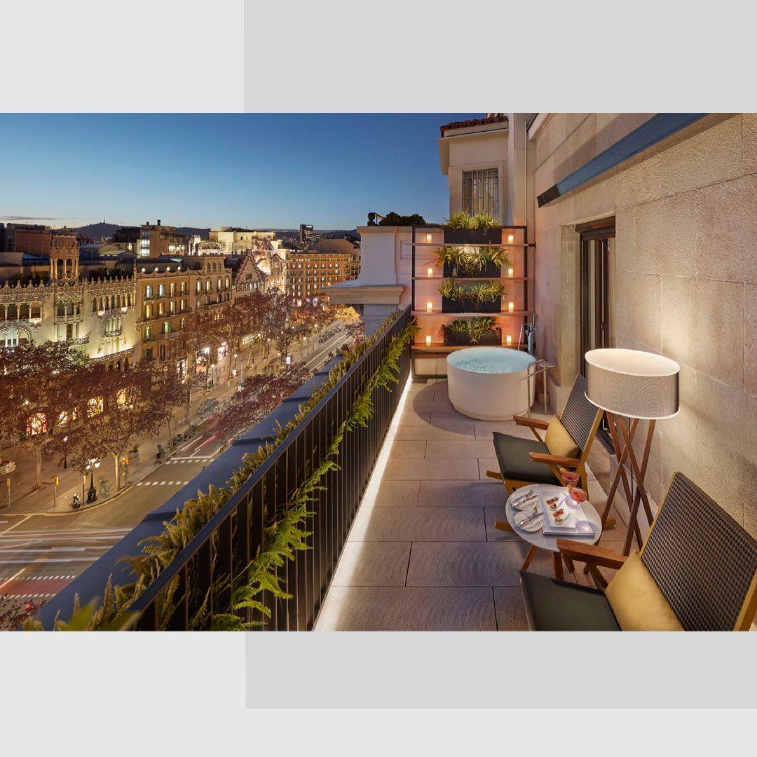 Terraza de una de las habitaciones / Foto: Mandarin Oriental Barcelona