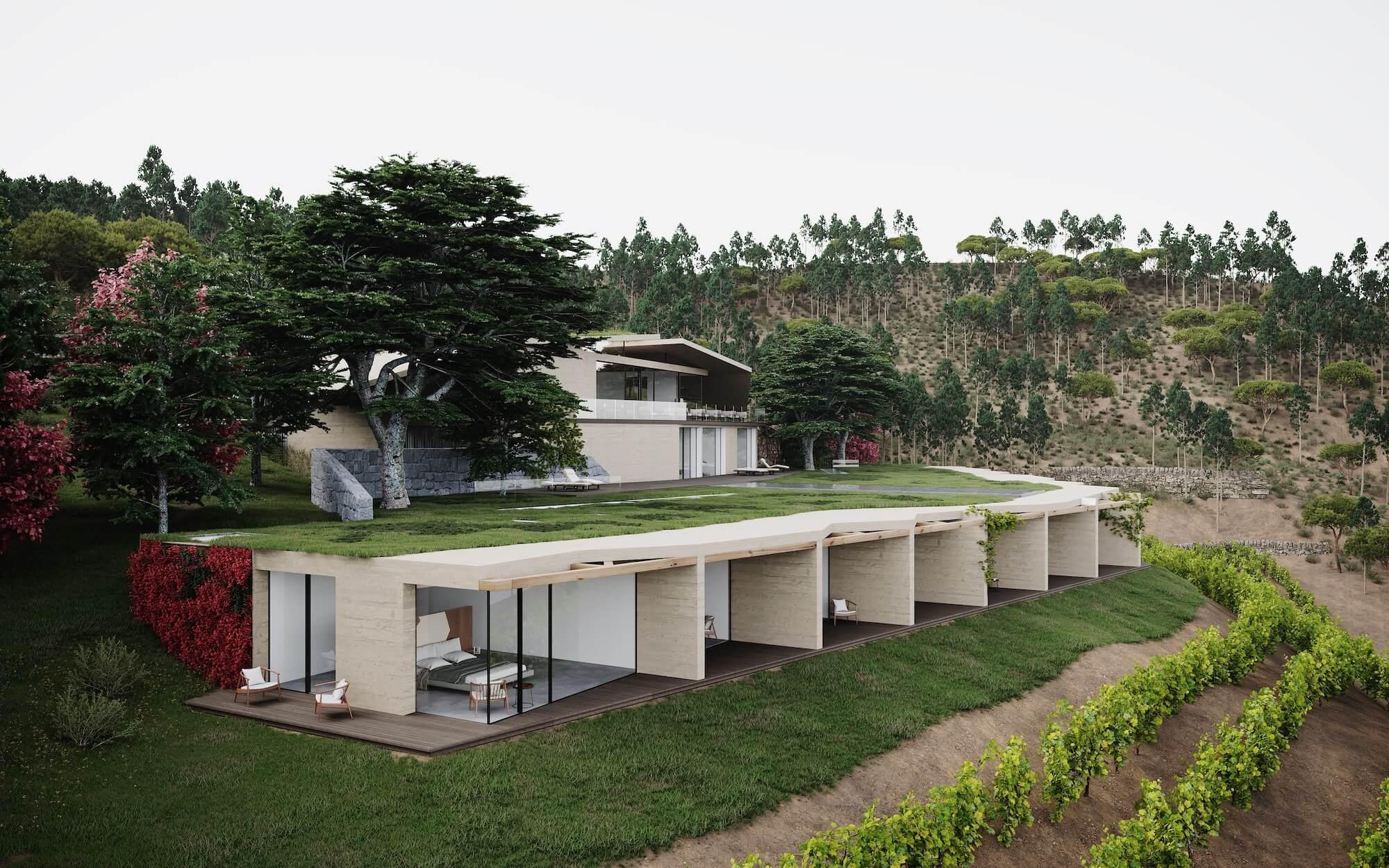 El hotel portugués entre viñedos/Foto: MJARC Arquitetos