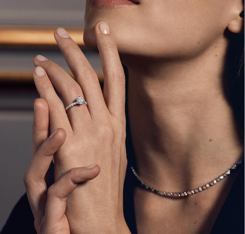 Pieza de oro blanco y diamante/Foto: Chaumet