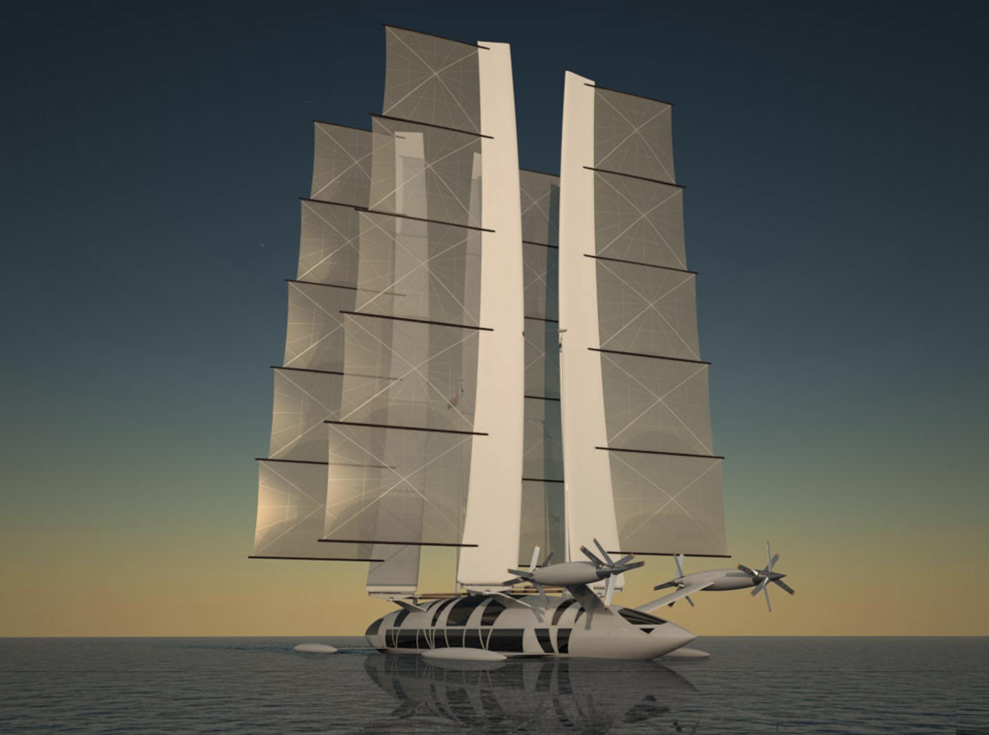 Flying Yacht, el barco de vela que se convierte en jet privado