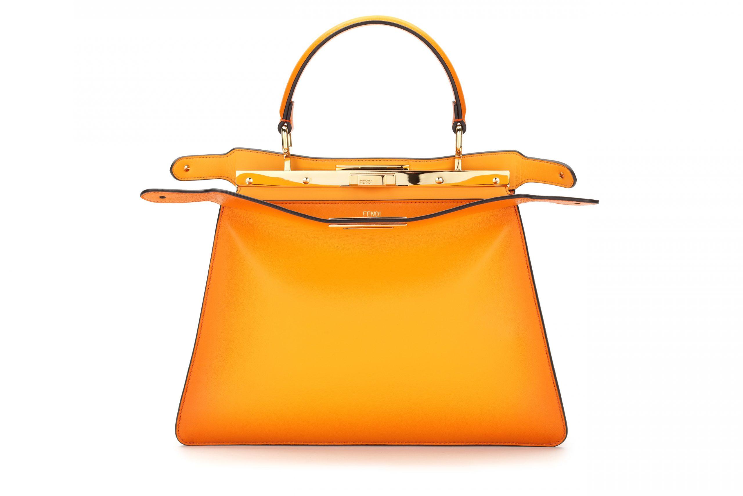 Bolso Peekaboo en naranja / Foto: Fendi