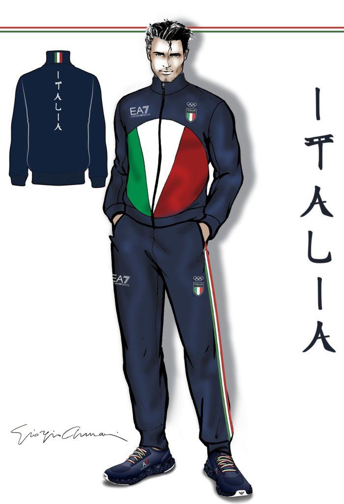 Boceto Armani para la colección JJOO 2020