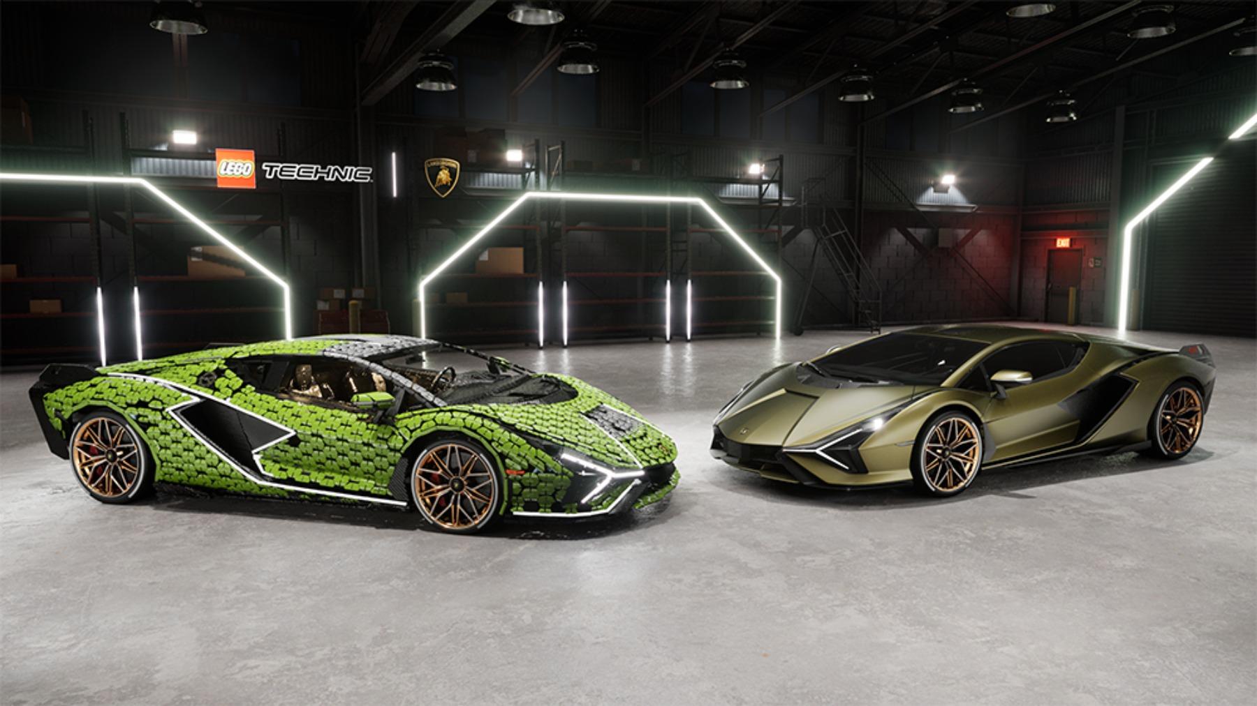 Así es el Lamborghini Sián construido con 400.000 piezas de Lego