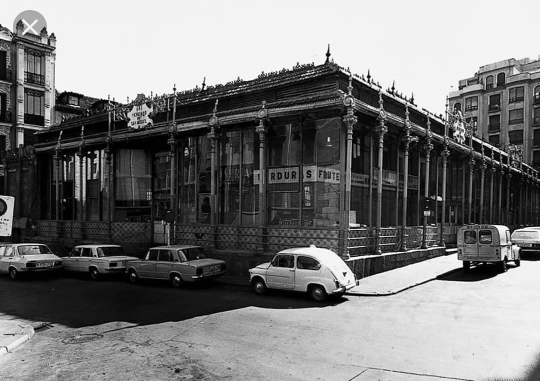 El mercado en 1969 / Foto: Mercado de San Miguel