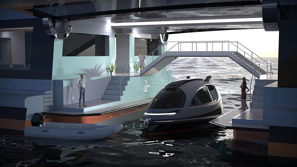 El superyate que funciona como puerto para otros barcos