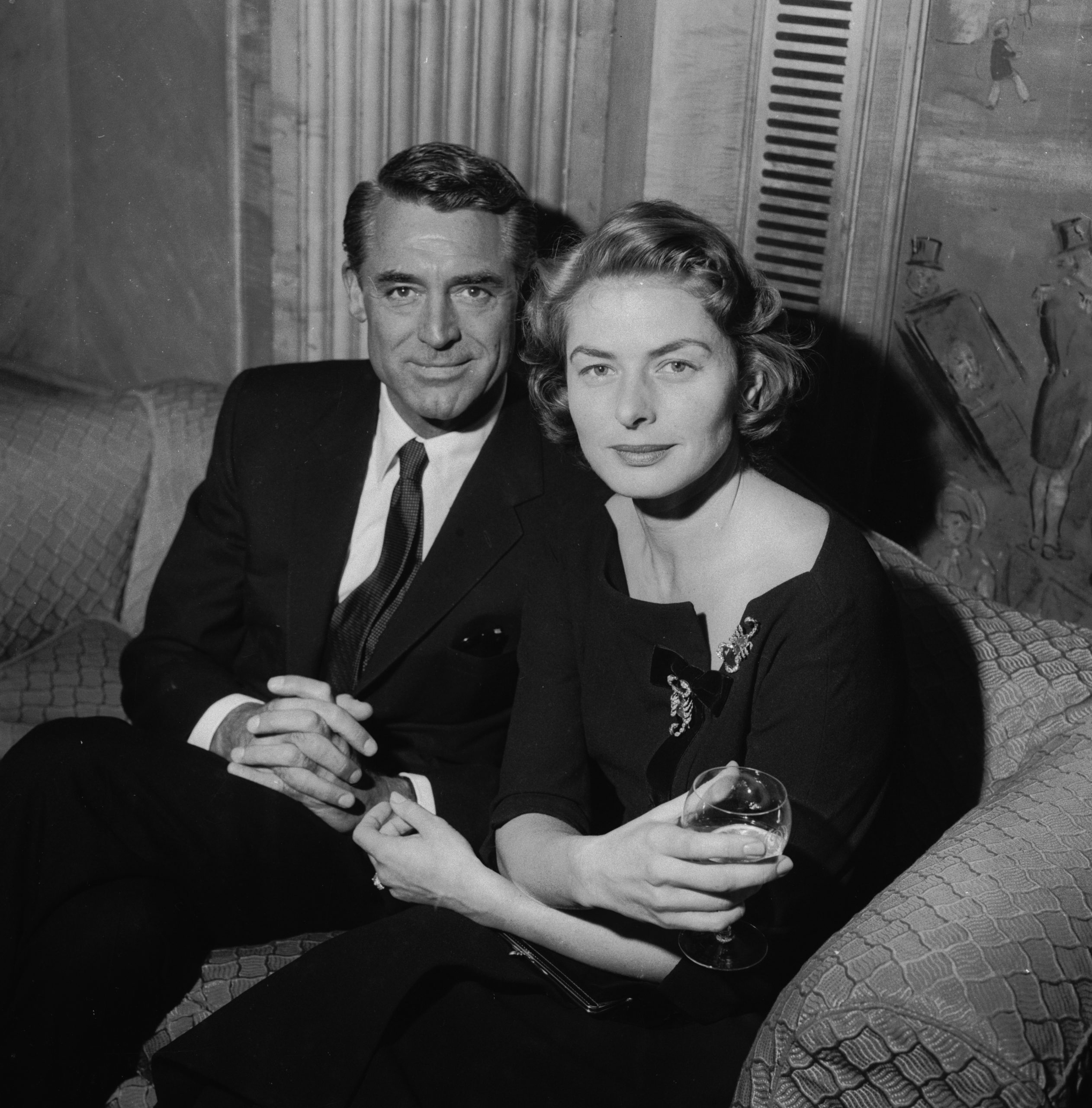 Cary Grant e Ingrid Bergman en 1957 / Foto: Getty Images