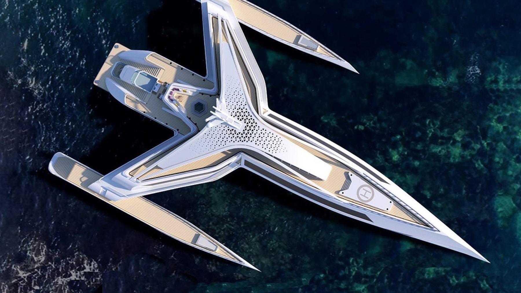 El yate de lujo inspirado en las naves de Star Wars