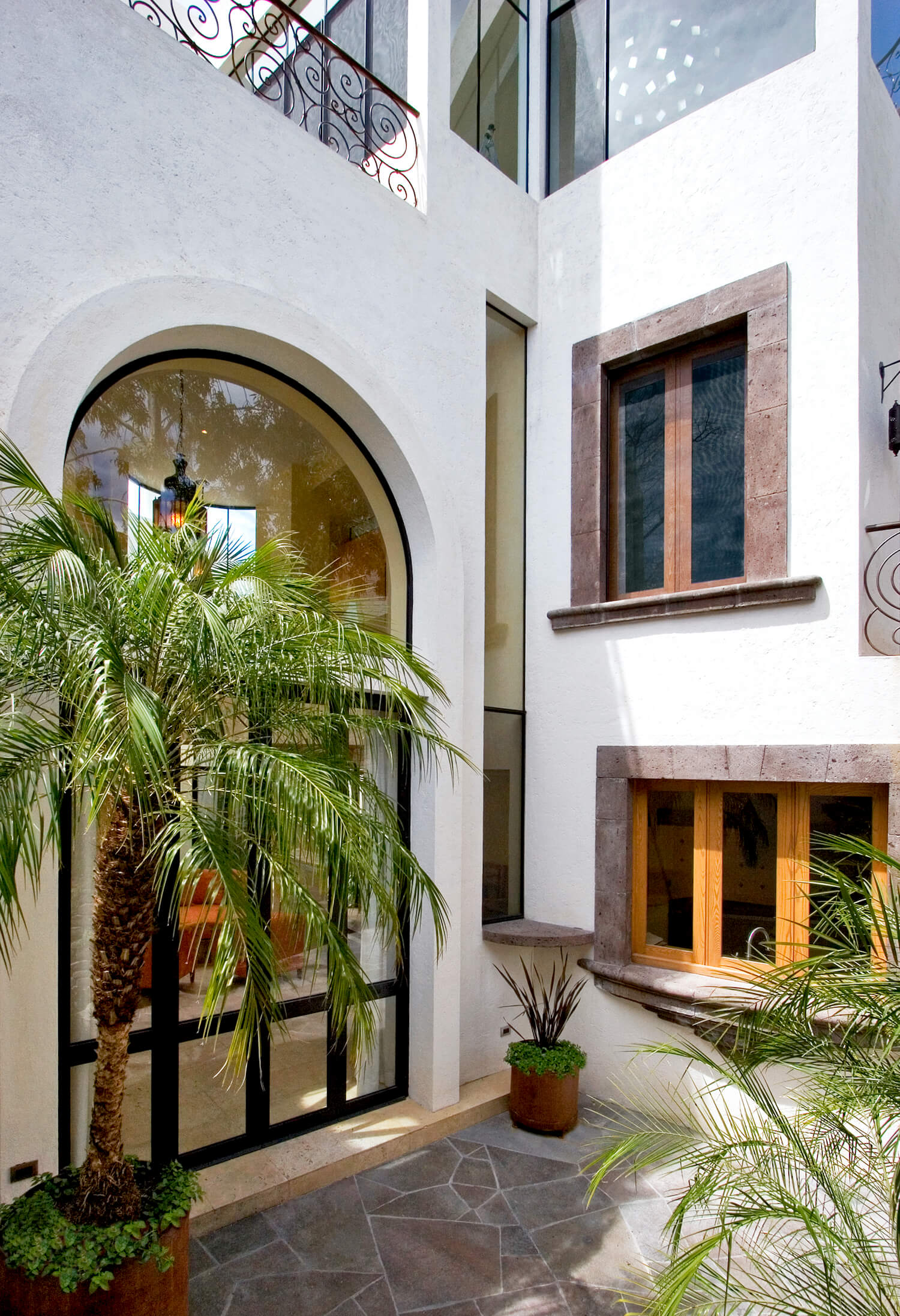 La entrada de la Casa Lluvia Blanca/Foto: House Architects