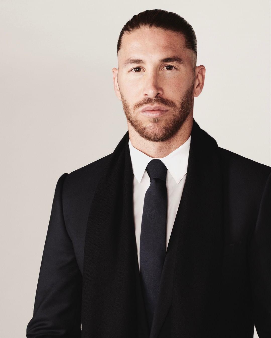 Sergio Ramos con la colección Dior X PSG