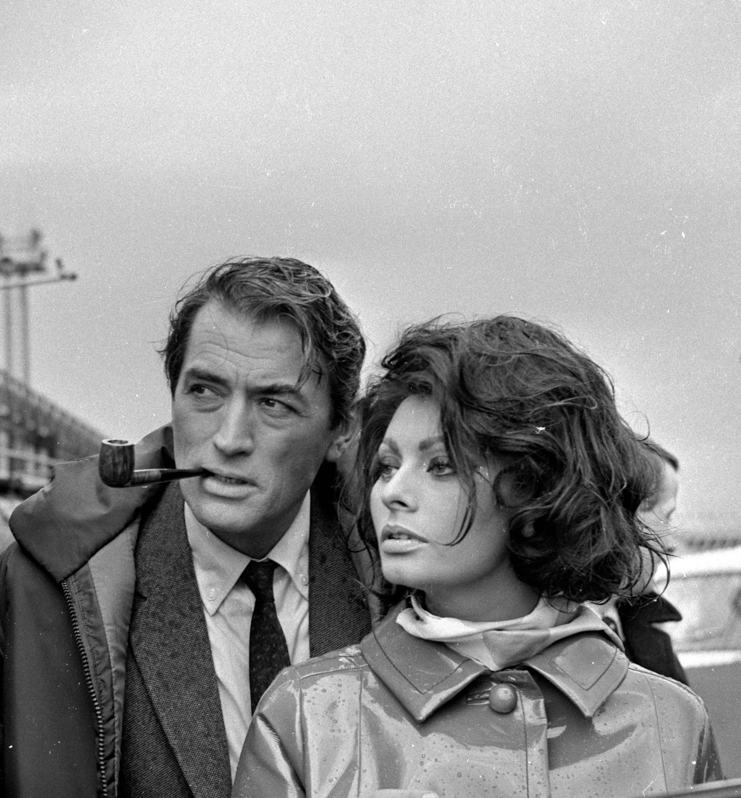 Gregory Peck y Sophia Loren en 1965 / Foto: Getty Images