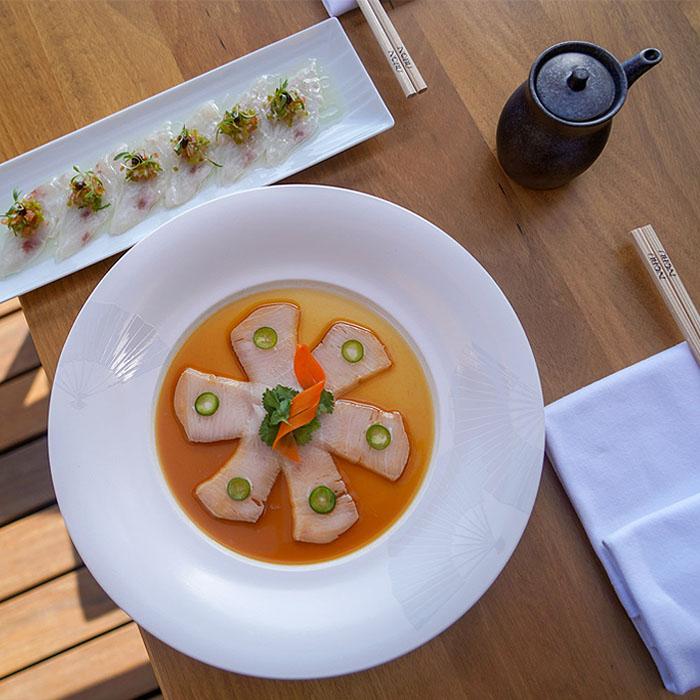 Platos de Chef Nobu Matsuhisa
