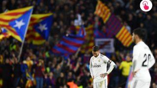 Imagen de un Clásico disputado en el Camp Nou. (AFP)