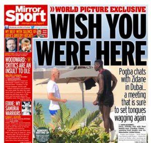 Zidane y Pogba, cazados en Dubai durante el parón de selecciones