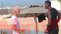 Zidane y Pogba, juntos en Dubai. (Daily Mirror)