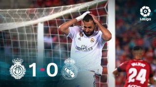 El Real Madrid perdió 1-0 ante el Mallorca en Son Moix.