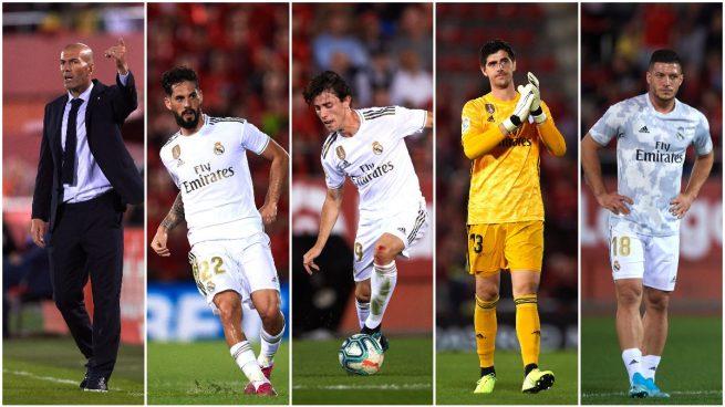 Zidane, Isco, Odriozola, Courtois y Jovic, señalados (Getty).