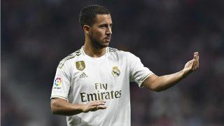 Hazard durante un partido con el Real Madrid. (AFP)