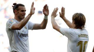 Gareth Bale y Luka Modric, en un partido del Real Madrid. (Getty)