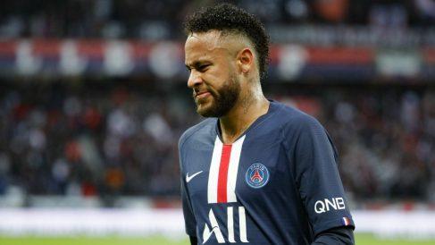 Neymar, durante un partido del PSG. (AFP)