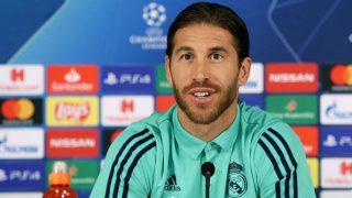 Sergio Ramos, en rueda de prensa. (Real Madrid)