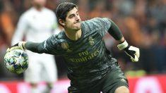 Courtois, durante un partido. (AFP)