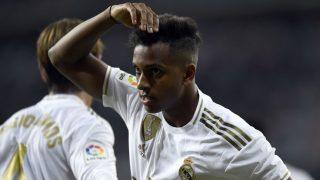 Rodrygo celebra un gol. (AFP)