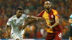 Rodrygo, en el partido contra el Galatasaray. (AFP)